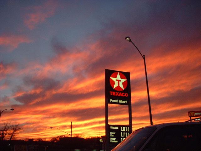 texaco sunset